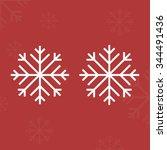 snow flake christmas vector c | Shutterstock .eps vector #344491436