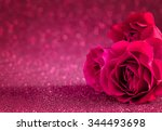 Stock photo red roses bouquet background symbolizing love and passion valentine s day card 344493698