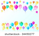 colour holiday balloons  ... | Shutterstock .eps vector #34450277