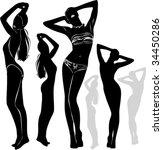 a lot of vector black... | Shutterstock .eps vector #34450286