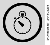 stopwatch vector icon. style is ... | Shutterstock .eps vector #344505395