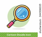 magnifying glass doodle | Shutterstock .eps vector #344508335