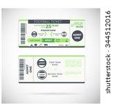football ticket card modern... | Shutterstock .eps vector #344512016