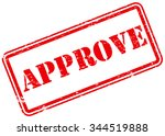 approve rubber stamp | Shutterstock .eps vector #344519888