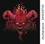 devil head  devil  satan ... | Shutterstock .eps vector #344533742