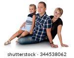 happy family cute little... | Shutterstock . vector #344538062