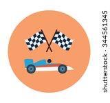 car racing colored vector icon  | Shutterstock .eps vector #344561345