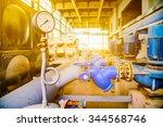 equipment inside of industrial... | Shutterstock . vector #344568746