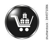 gift   vector icon  black button