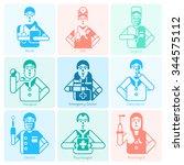 doctor specialities flat... | Shutterstock .eps vector #344575112