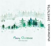 merry christmas and happy new...   Shutterstock .eps vector #344576756