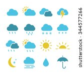 weather icons | Shutterstock .eps vector #344577266