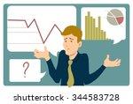uncertain businessman shrugs... | Shutterstock .eps vector #344583728