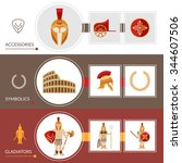 gladiator horizontal banner set ...   Shutterstock .eps vector #344607506
