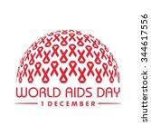 world aids day. aids awareness. ... | Shutterstock .eps vector #344617556