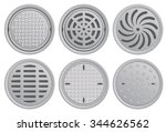 Manhole Covers. Vector...