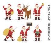 santa claus set. character... | Shutterstock .eps vector #344627516