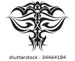 decorative wallpaper design in... | Shutterstock .eps vector #34464184