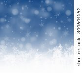 snowflakes and stars... | Shutterstock . vector #344644592