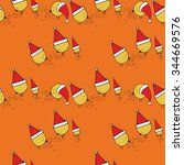 seamless pattern new year's... | Shutterstock .eps vector #344669576
