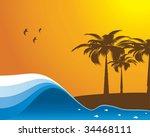 abstract ocean beach...   Shutterstock .eps vector #34468111