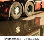 wheels of heavy vehicle... | Shutterstock . vector #344686532