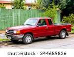 Small photo of PUCON, CHILE - NOVEMBER 20, 2015: Motor car Ford Ranger at the town street.