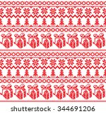 new year's christmas pattern... | Shutterstock .eps vector #344691206