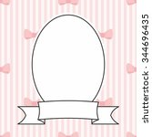 photo vector frame and pink bow ... | Shutterstock .eps vector #344696435