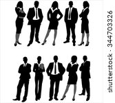 Silhouettes Of Business Men An...