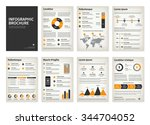 vintage business a4 brochures... | Shutterstock .eps vector #344704052
