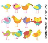 cute and colorful beautiful... | Shutterstock .eps vector #344704292