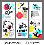 vector sport advertising...   Shutterstock .eps vector #344711996
