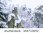 Falling Snow At Guanyin Statue...