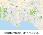 vector city map of the... | Shutterstock .eps vector #344713916
