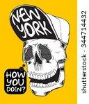 cool skull design for tee   Shutterstock .eps vector #344714432