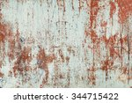 red and white peeled wall.... | Shutterstock . vector #344715422