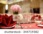 chinese wedding table set up... | Shutterstock . vector #344719382