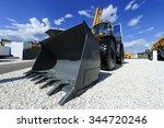 loader  wheel bulldozer with... | Shutterstock . vector #344720246