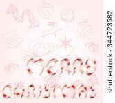 merry christmas | Shutterstock .eps vector #344723582