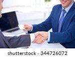 business people shaking hands ... | Shutterstock . vector #344726072