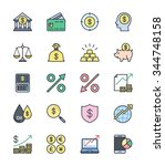 business finance icons  color... | Shutterstock .eps vector #344748158