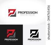 profession logo p letter logo... | Shutterstock .eps vector #344765456