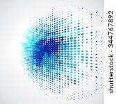 vector digital global... | Shutterstock .eps vector #344767892