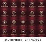 modern or vintage frame and... | Shutterstock .eps vector #344767916