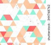 vintage triangle pattern... | Shutterstock .eps vector #344768762