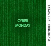 cyber monday sale symbol and... | Shutterstock .eps vector #344769596