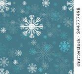 snowflakes seamless vector... | Shutterstock .eps vector #344777498