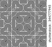 design seamless monochrome... | Shutterstock .eps vector #344777945