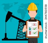 petroleum and oil industry... | Shutterstock .eps vector #344783558